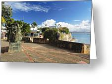 Old City In The Caribbean Greeting Card