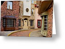 Old City Street Greeting Card