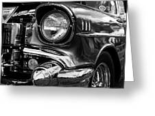 Old Classic Car In Black And White Greeting Card