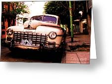 Old Classic Dodge, On The Streets Of Buenos Aires Greeting Card