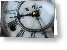 Old Clock Face Greeting Card