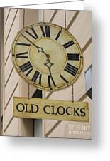 Old Clocks Greeting Card