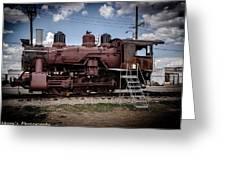 Old Clovis Train Greeting Card