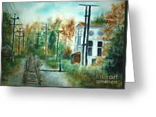 Old Cn Station Fort Langley Bc Greeting Card