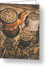 Old Coffee Brew House Beans Greeting Card