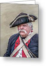 Old Colonial Soldier Portrait Greeting Card