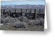 Old Corral Greeting Card
