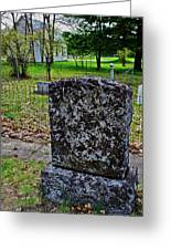 Old Country Cemetery Greeting Card