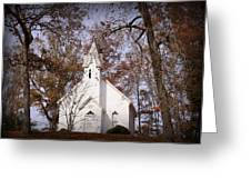 Old Country Church In Alabama Greeting Card