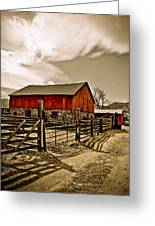 Old Country Farm Greeting Card
