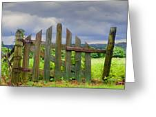 Old Country Gate Greeting Card