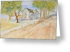 Old Country House Greeting Card
