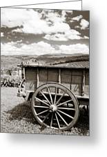 Old Country Wagon Greeting Card