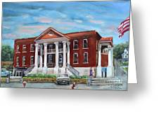 Old Courthouse In Ellijay Ga - Gilmer County Courthouse Greeting Card