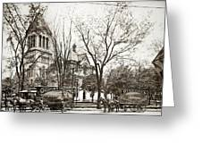 Old Courthouse Public Square Wilkes Barre Pa Late 1800s Greeting Card