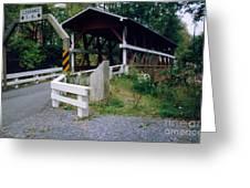 Old Covered Bridge In Pennsylvania  Greeting Card