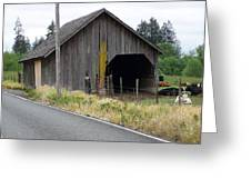 Old Cow Barn  Washington State Greeting Card