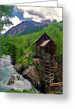 Old Crystal Mill Greeting Card