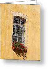Old Decorated Window In Safed Greeting Card