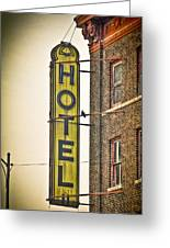Old Detroit Hotel Sign Greeting Card