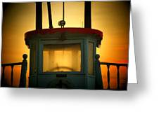 Old Dixie Boat Cab Sunrise Greeting Card