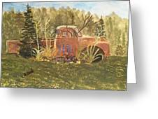 Old Dodge Truck In Garden Greeting Card