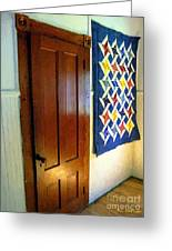 Old Door - New Quilt Greeting Card
