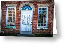Old Door And Windows Greeting Card