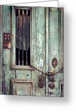 Old Door Detail Greeting Card
