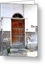 Old Door In Sorrento Greeting Card