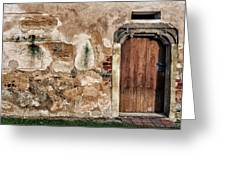 Old Door. Greeting Card