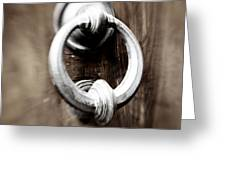 old Door Knocker Greeting Card