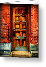 Old Door Greeting Card by Perry Webster