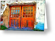 Old Doors Greeting Card