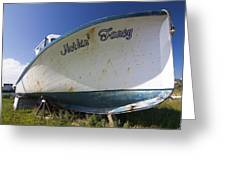Old Dry Docked Boat Greeting Card