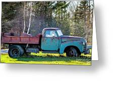 Old Dump Truck Greeting Card