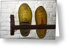 Old Dutch Wooden Shoes Greeting Card