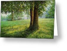 Old Elms In Kernave Greeting Card