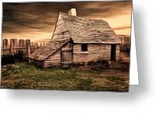 Old English Barn Greeting Card