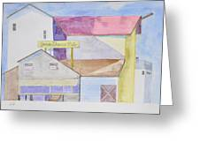 Old Factory Building Greeting Card