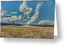 Old Faithful After Eruption Greeting Card