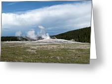 Old Faithful Before Greeting Card