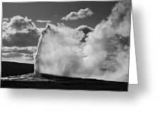 Old Faithful Geyser Greeting Card