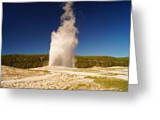 Old Faithful IIi Greeting Card