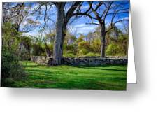 Old Family Plot In Cromwell Valley Park Greeting Card