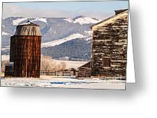Old Farm Buildings Greeting Card
