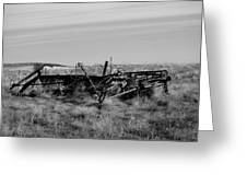Old Farm Equipment Bereft Baw Greeting Card
