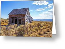 Old Farm House Widtsoe Utah Ghost Town Greeting Card