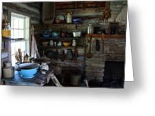 Old Farm Kitchen Greeting Card