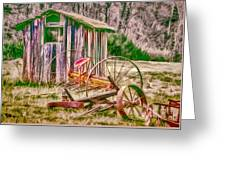 Old Farm Tools Greeting Card